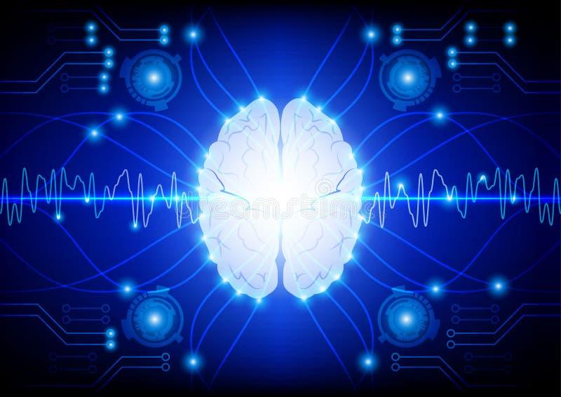 Concepto digital abstracto de la tecnología del cerebro del circuito eléctrico libre illustration