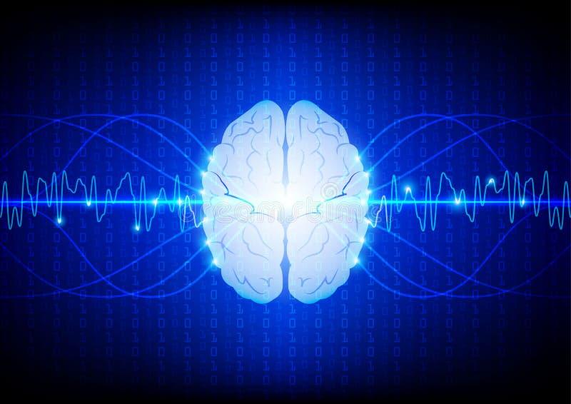 Concepto digital abstracto de la tecnología del cerebro vector d del ejemplo libre illustration