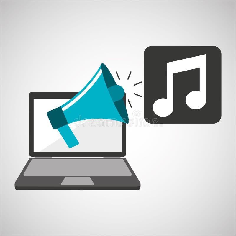 Concepto digital de comercialización de la música libre illustration