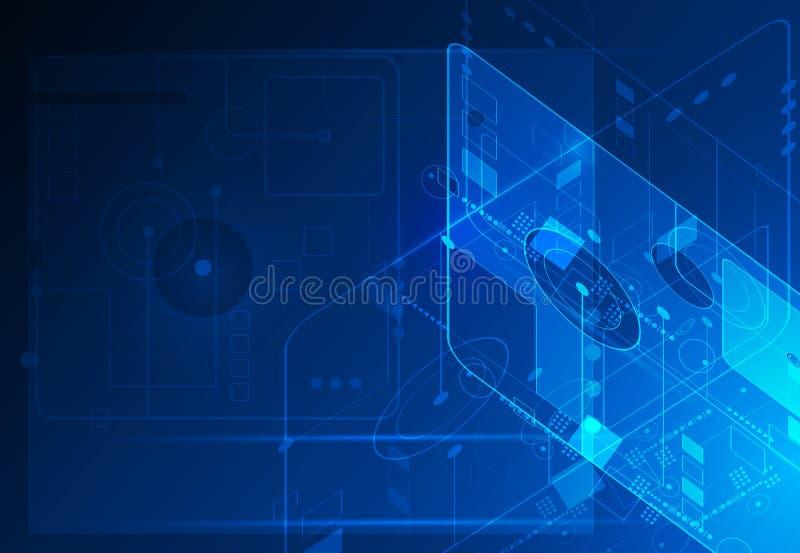 Concepto digital futuro abstracto de la tecnología de la ciencia stock de ilustración
