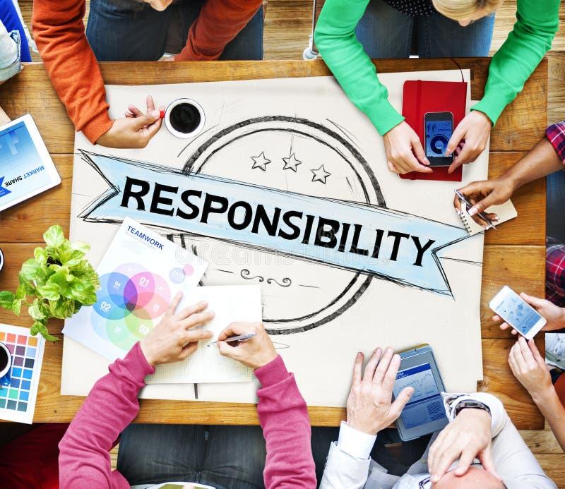 Concepto digno de confianza de la responsabilidad de la confianza de la confiabilidad de la responsabilidad fotos de archivo libres de regalías