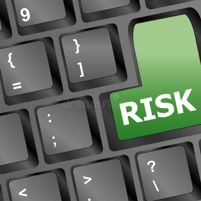 Concepto dominante del asunto de demostración de la gestión de riesgos stock de ilustración