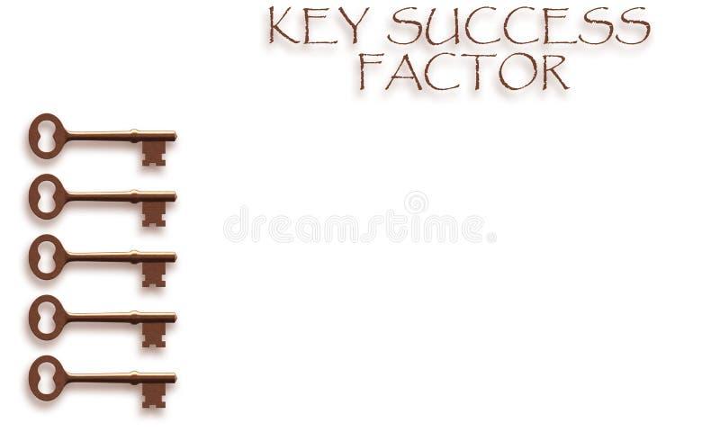 Concepto dominante del factor de éxito ilustración del vector