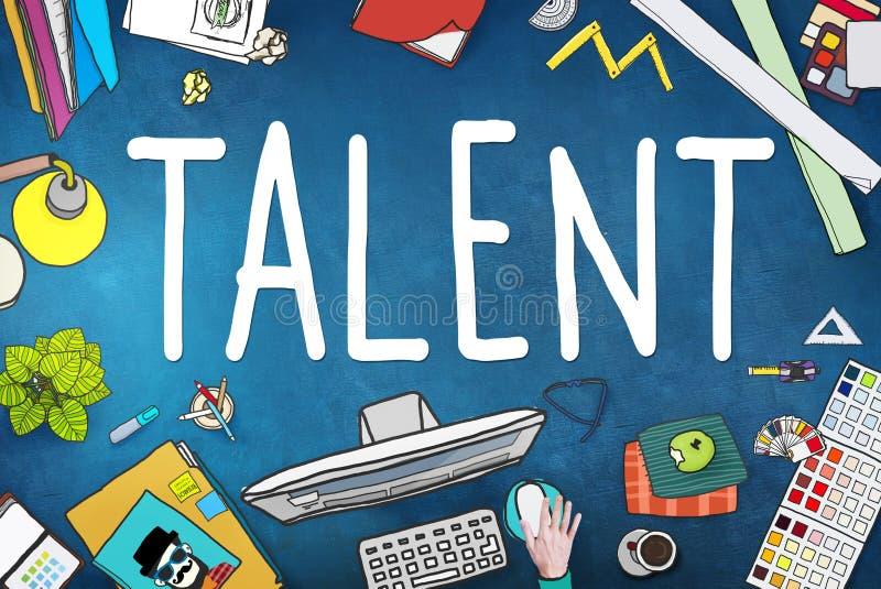 Concepto dotado de la experiencia de la capacidad de las capacidades de las habilidades del talento libre illustration