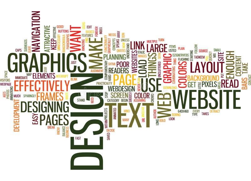 Concepto eficaz de la nube de la palabra del diseño web ilustración del vector