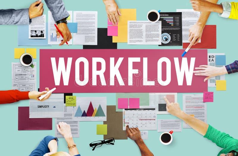 Concepto eficiente del procedimiento del proceso de negocio del flujo de trabajo imagen de archivo