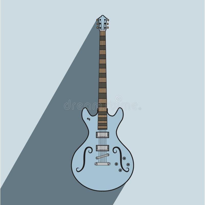 Concepto eléctrico del arte de los ejemplos de la guitarra del metal del jazz de la roca ilustración del vector