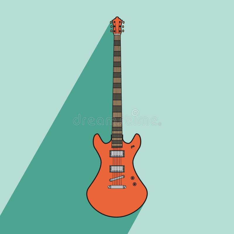 Concepto eléctrico del arte de los ejemplos de la guitarra del metal del jazz de la roca stock de ilustración