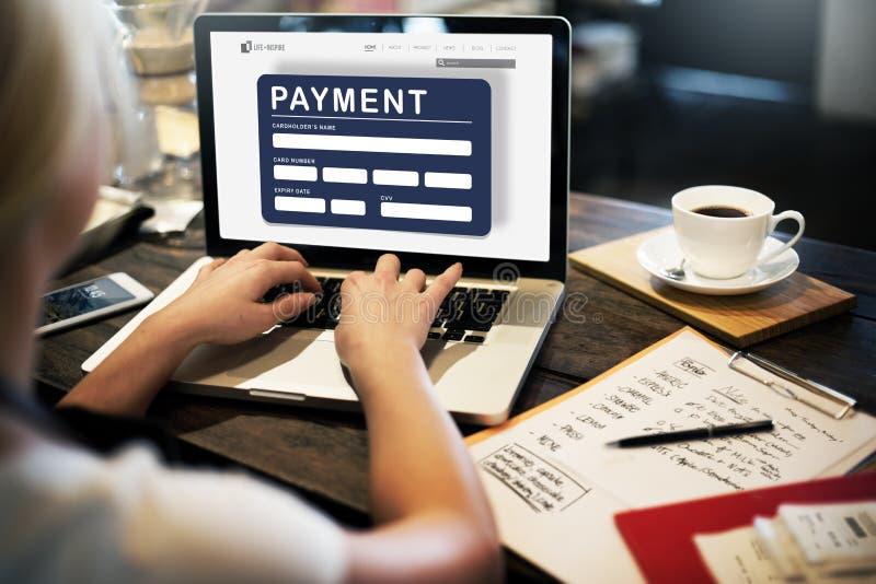 Concepto electrónico del E-pago del crédito del comercio electrónico del pago imagen de archivo