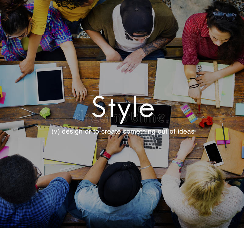 Concepto elegante del fashionista de las tendencias de moda de moda del diseño del estilo imagen de archivo libre de regalías