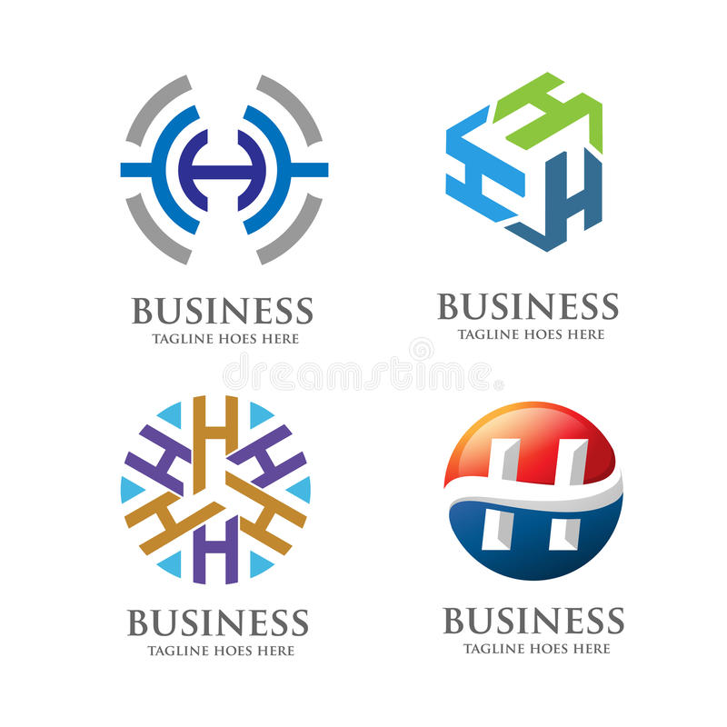 Concepto elegante del logotipo de la letra H libre illustration