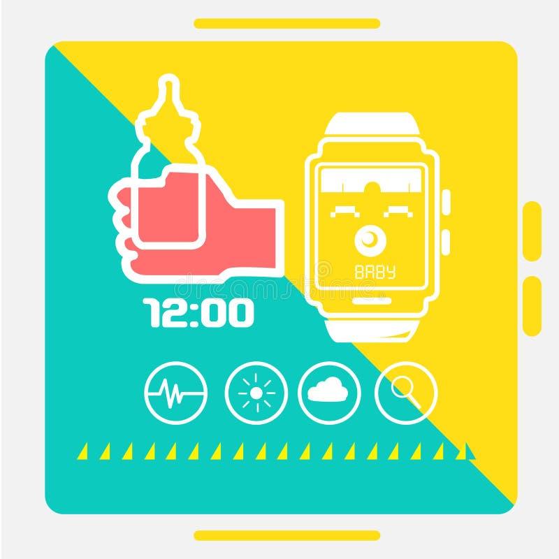 Concepto elegante del reloj libre illustration