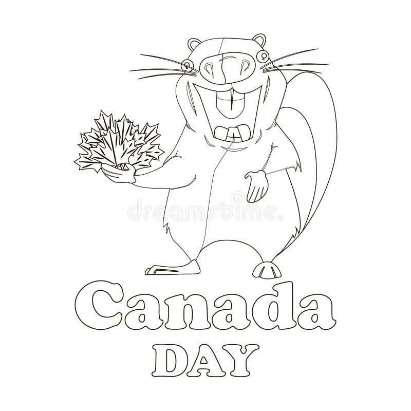 Concepto en el día de Canadá, castor del día de fiesta libre illustration