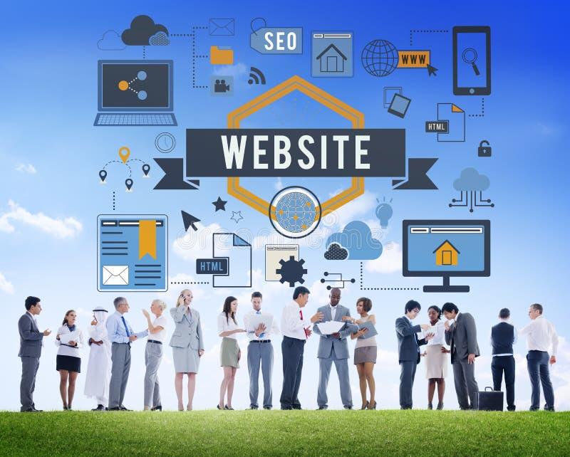 Concepto en línea de Internet de la conexión de WWW del sitio web fotos de archivo
