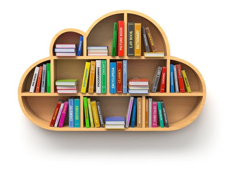 Concepto en línea de la biblioteca stock de ilustración