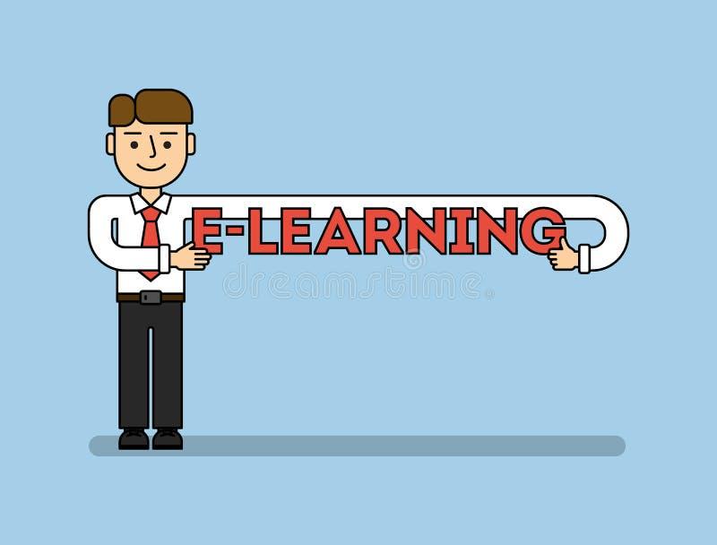 Concepto en línea de la educación stock de ilustración