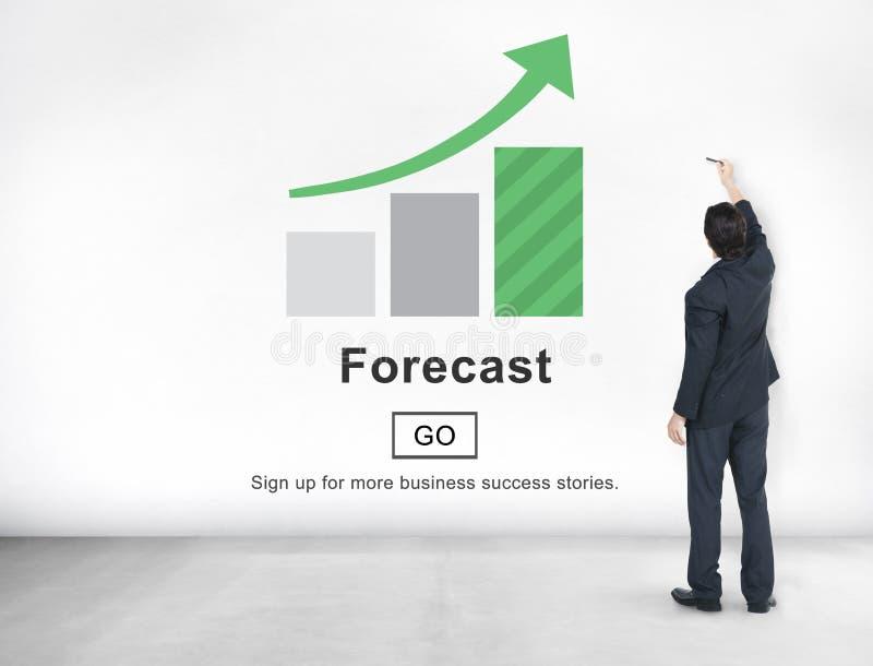Concepto en línea de la estrategia del plan futuro de la predicción del pronóstico imagen de archivo libre de regalías
