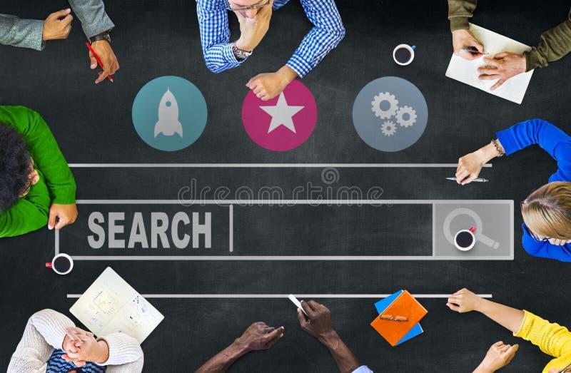 Concepto en línea de la información de Internet del web de la ojeada de la búsqueda foto de archivo libre de regalías