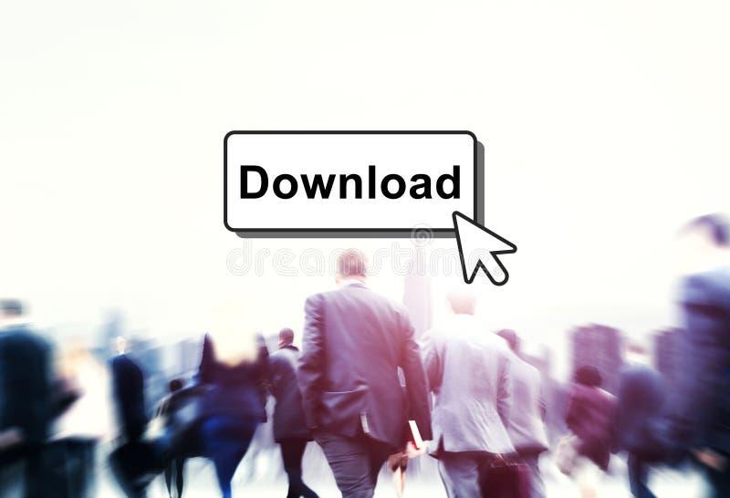 Concepto en línea de la información de la tecnología del tecleo de la transferencia directa foto de archivo