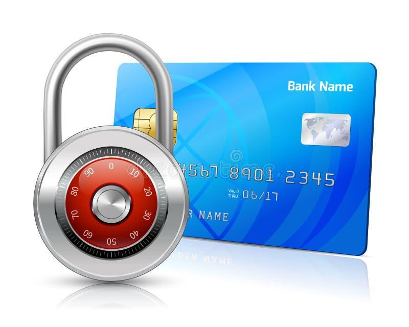 Concepto en línea de la seguridad de los pagos ilustración del vector