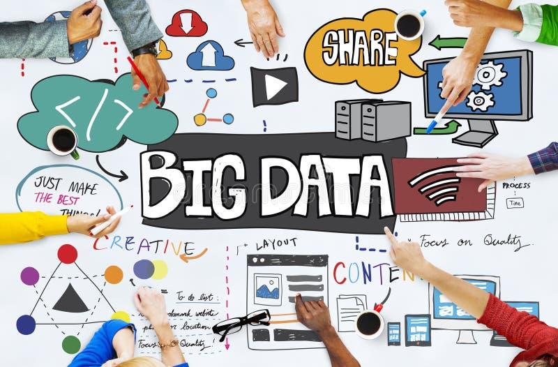 Concepto en línea de la tecnología de datos de información del servidor grande del almacenamiento fotos de archivo