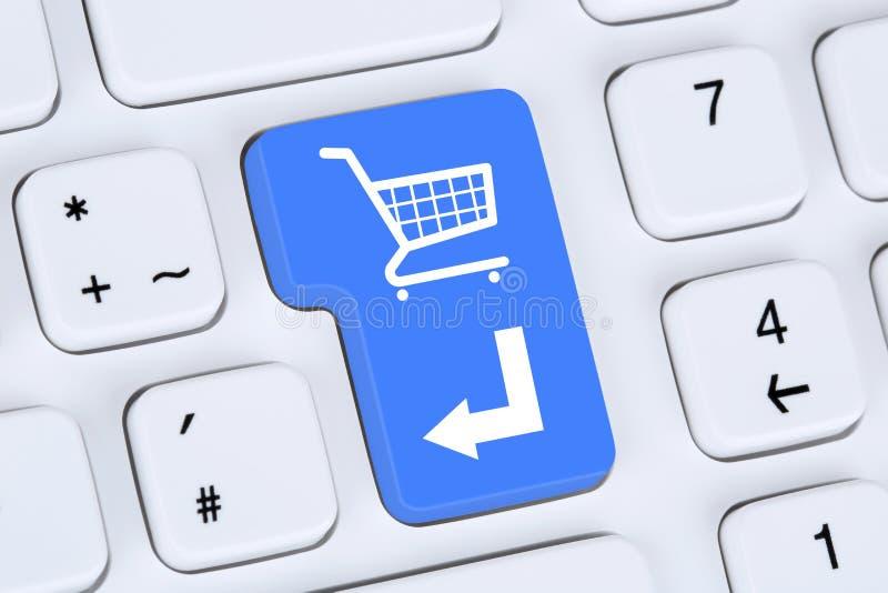 Concepto en línea de la tienda de Internet del comercio electrónico de la orden de las compras imágenes de archivo libres de regalías