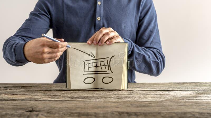 Concepto en línea de las compras imagen de archivo libre de regalías