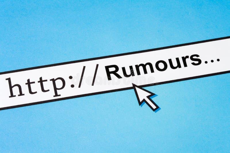 Concepto en línea de las rumores foto de archivo libre de regalías
