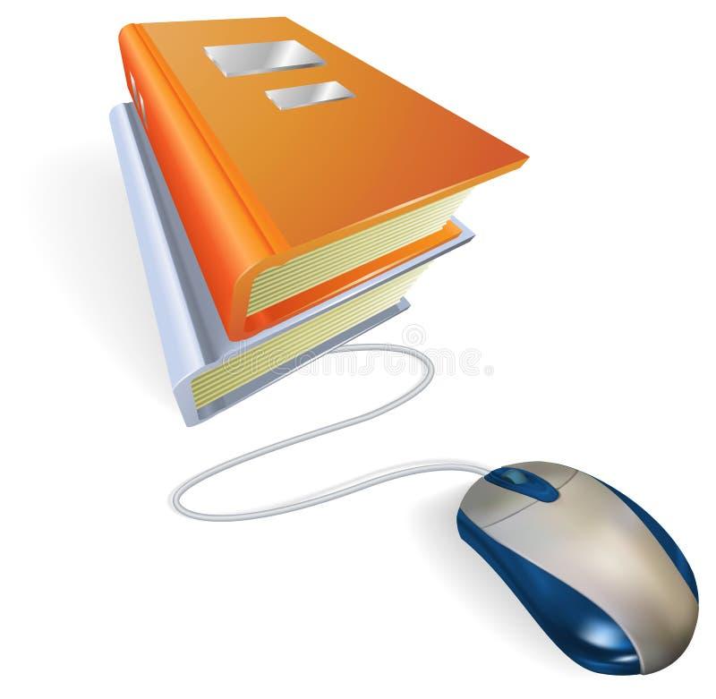 Concepto en línea del aprendizaje o de los datos stock de ilustración
