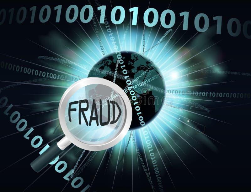 Concepto en línea del fraude ilustración del vector