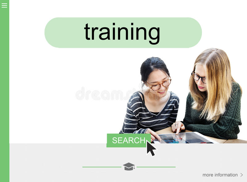Concepto en línea del interfaz de la búsqueda del aprendizaje a distancia fotografía de archivo