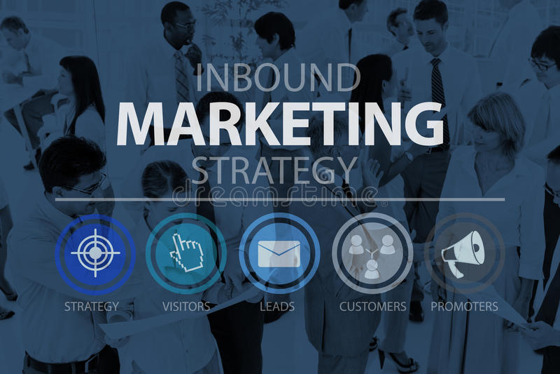 Concepto en línea del márketing del comercio de entrada de la estrategia de marketing fotografía de archivo libre de regalías