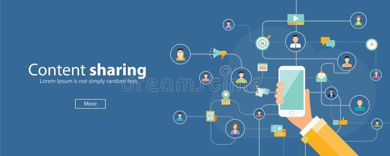 Concepto en línea del márketing móvil del negocio libre illustration