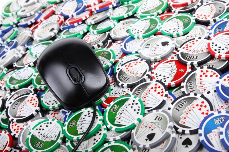 Concepto en línea del póker del casino fotografía de archivo