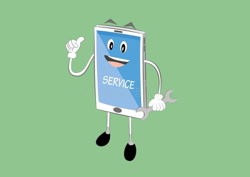 Concepto en línea del servicio de reparación stock de ilustración