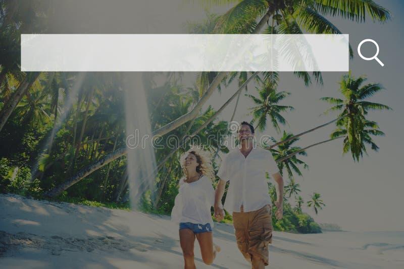 Concepto en línea del sitio web de Internet de la tecnología del web del cuadro de búsqueda imágenes de archivo libres de regalías