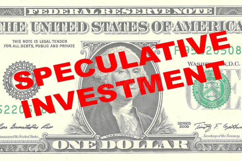 Concepto especulativo de la inversión libre illustration