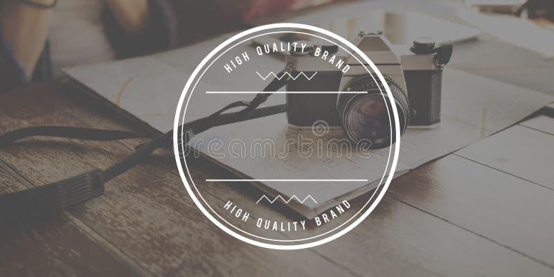 Concepto estándar del valor de la excelencia de alta calidad de la marca foto de archivo libre de regalías