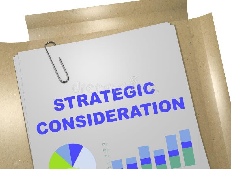 Concepto estratégico de la consideración stock de ilustración