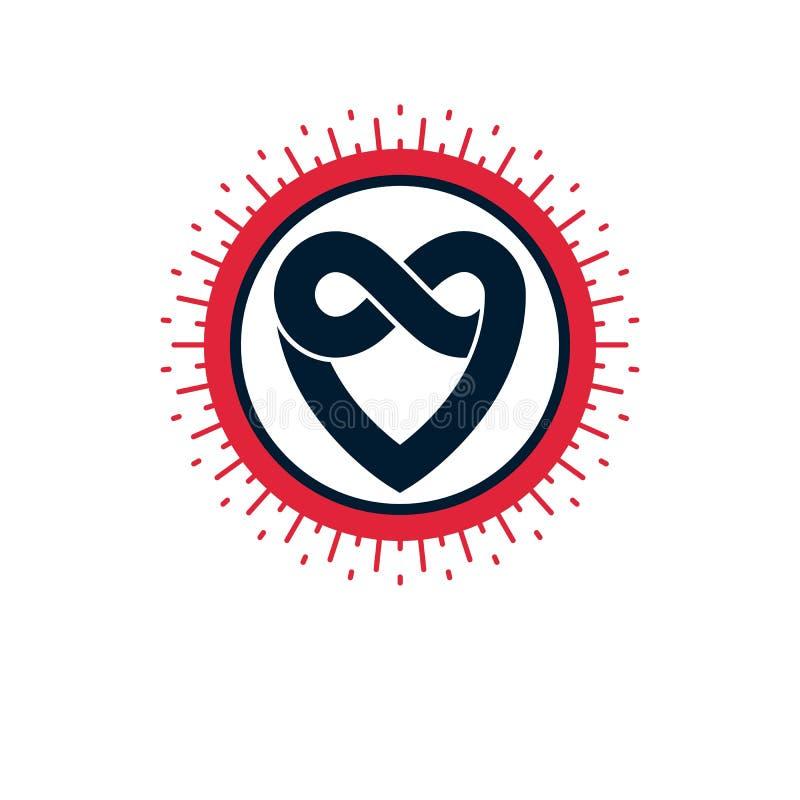 Concepto eterno del amor Icono del vector del corazón del amor aislado libre illustration