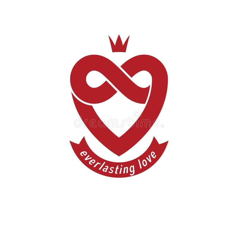 Concepto eterno del amor, símbolo del vector creado con lo del infinito ilustración del vector