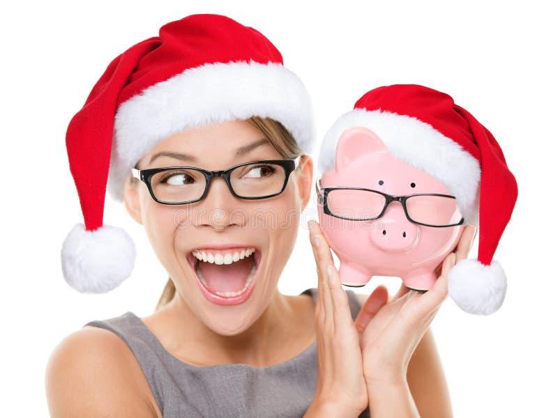 Concepto eyewear de la venta de los vidrios de la Navidad foto de archivo