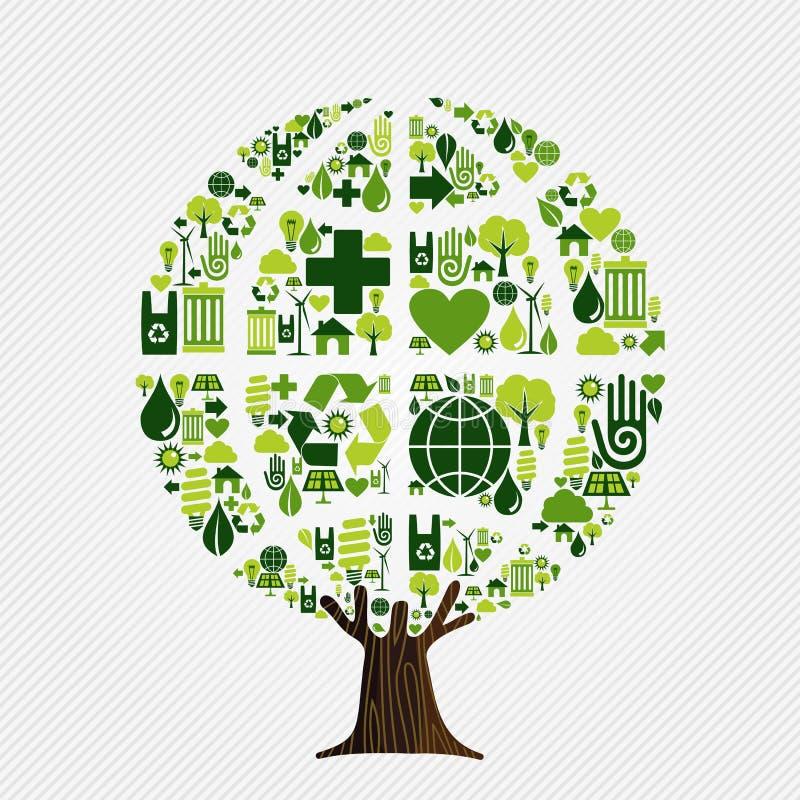 Concepto favorable al medio ambiente verde del árbol ilustración del vector