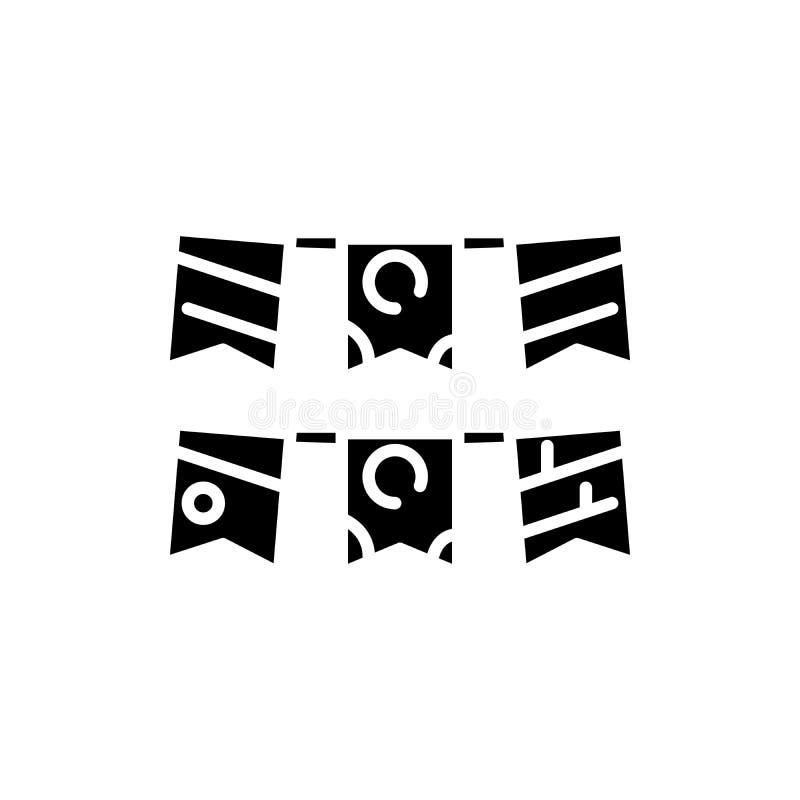 Concepto festivo del icono del negro del evento Símbolo plano del vector del evento festivo, muestra, ejemplo ilustración del vector