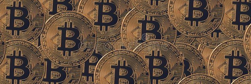 Concepto financiero de la bandera, cryptocurrency de Bitcoin fotos de archivo