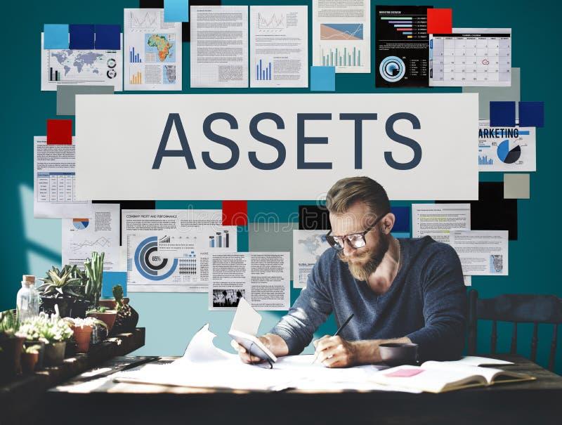 Concepto financiero de la propiedad Value de los activos imágenes de archivo libres de regalías