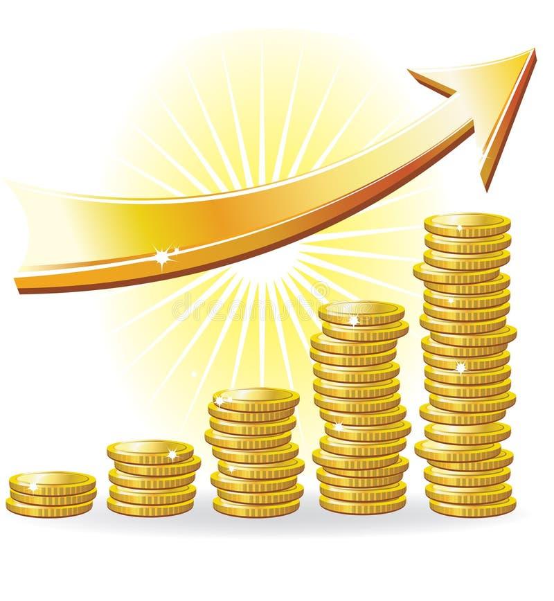 Concepto financiero del éxito ilustración del vector