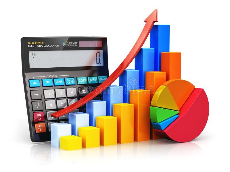 Concepto financiero del éxito y de contabilidad ilustración del vector