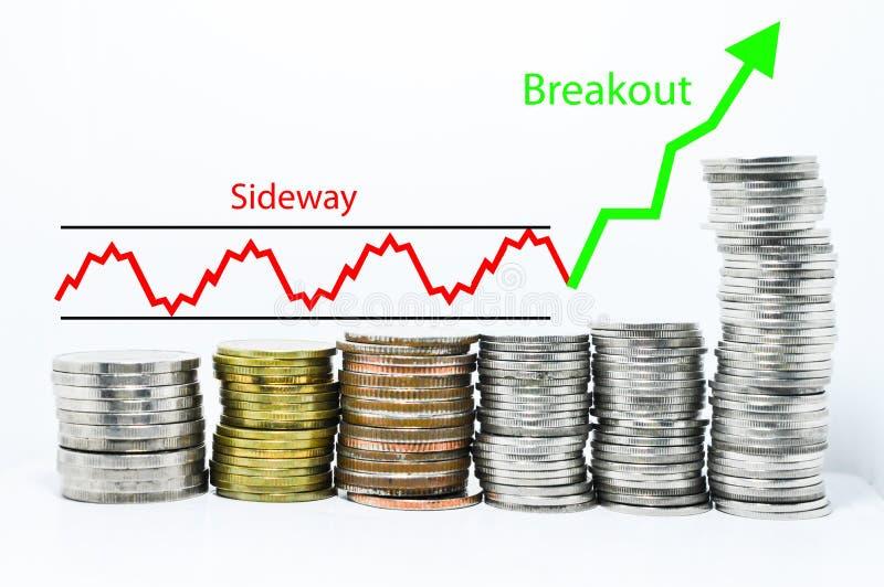 Concepto financiero del crecimiento de dinero del éxito imagen de archivo libre de regalías
