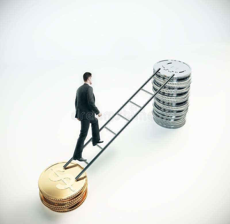Concepto financiero del crecimiento y de la carrera stock de ilustración